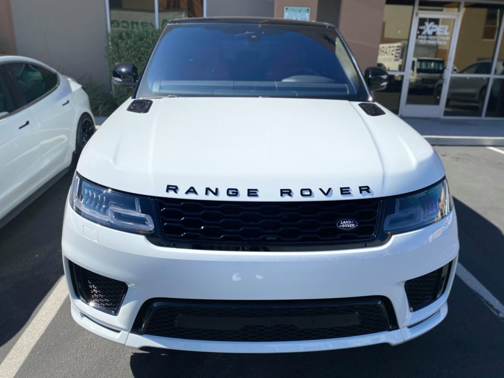 2021 Land Rover Range Rover ULTIMATE PLUS partial front paint protection wrap